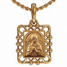 Золотая ладанка Божья Матерь Семистрельная