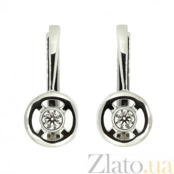 Серьги из белого золота с бриллиантами Каприз ZMX--ED-5592w_K