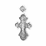 Серебряный крест Милость Божья с чернением