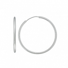 Серебряные серьги-конго Кристалл, Ø4см
