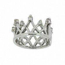 Серебряная серьга-кафф с бриллиантами Николь
