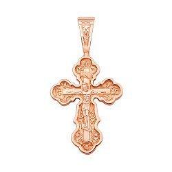 Православный крестик из красного золота 000130855
