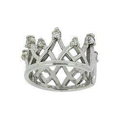 Серебряная серьга-кафф с бриллиантами 000022342