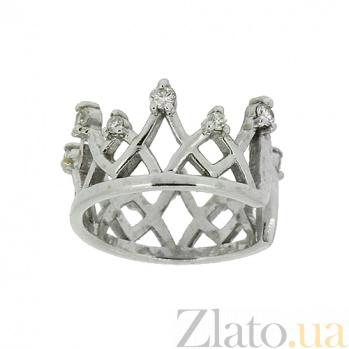 Серебряная серьга-кафф с бриллиантами Николь ZMX--ED-6939-Ag_K