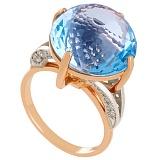 Золотое кольцо с топазом и фианитами Римма