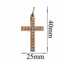 Золотой крест с фианитами Воодушевление