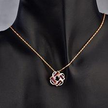 Золотой подвес с бриллиантами и рубинами Вирджиния