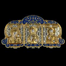 Серебряная икона с позолотой Триптих