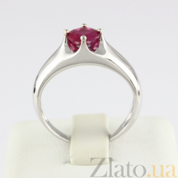 Кольцо из белого золота с рубином Власть VLN--122-1263-13*