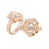 Золотое кольцо с кахолонгом Amoroso