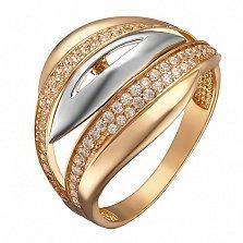 Кольцо из комбинированного золота Взгляд тайны с фианитами