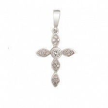 Золотой крестик Сусанна с бриллиантами