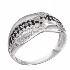 Кольцо из белого золота с сапфирами и бриллиантами Эльвира