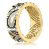 Мужское золотое обручальное кольцо Талисман: Гармонии