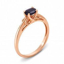 Кольцо из красного золота с сапфиром 000135297