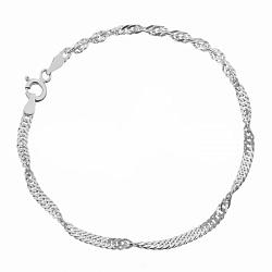 Серебряный браслет Фламенко, 3 мм