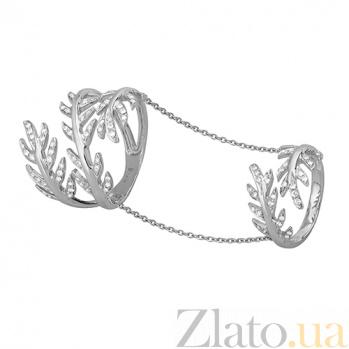 Кольца на две фаланги из белого золота с бриллиантами Пальмира YZ65773