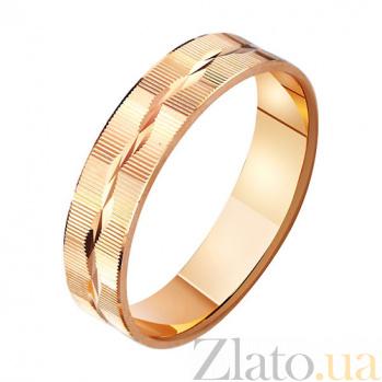 Золотое обручальное кольцо Мелодия сердца TRF--411040