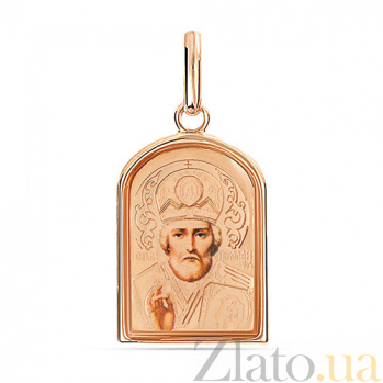 Золотая ладанка Святой Николай SUF--402901рц
