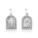 Ладанка из серебра с цирконием Мария с младенцем