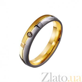 Золотое обручальное кольцо Классическая пара с цирконием TRF--4421521