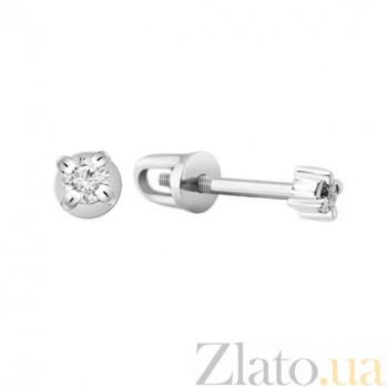 Золотые серьги с бриллиантами Майя KBL--С2206/бел/брил