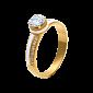 Золотое кольцо с бриллиантами и эмалью Белая королева 000029380