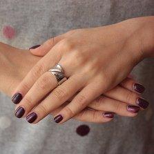 Серебряное кольцо с бриллиантами Энджи