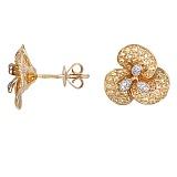 Серьги из желтого золота Голди с бриллиантами