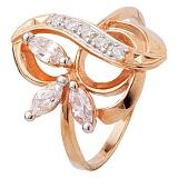 Серебряное кольцо с позолотой и цирконием Розмари