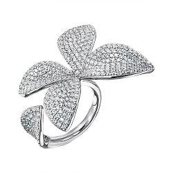 Серебряное кольцо с фианитами 000133225