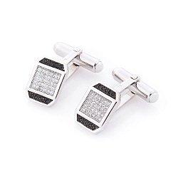 Серебряные запонки Искренность с фианитами