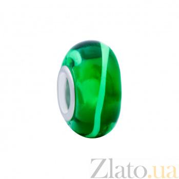Бусина с зеленым муранским стеклом Лайм AQA--002510088