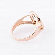 Золотое кольцо Абигейль с черными фианитами
