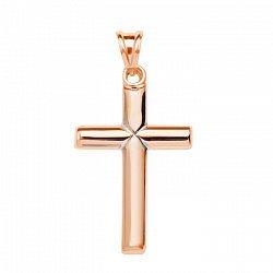 Крестик в красном золоте Вечная классика
