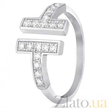 Серебряное кольцо Highway с фианитами в стиле Тиффани 000030905