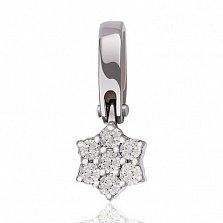 Золотой кулон Звезда Сириус с бриллиантами