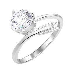 Серебряное кольцо с цирконием 000112721
