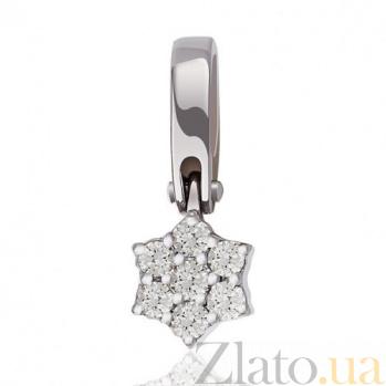 Золотой кулон Звезда Сириус с бриллиантами EDM--П7502/1