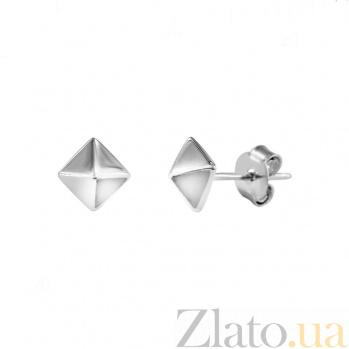 Серебряные серьги-пуссеты Пирамидки 000081933