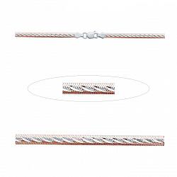 Серебряная цепочка Рафаэль с позолотой  000014368