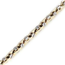 Золотая цепь Baraka Альгамбра в комбинированном цвете фантазийного плетения 000033492