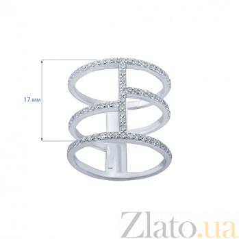 Тройное кольцо серебряное с цирконами Лоанда AQA--A2672-R