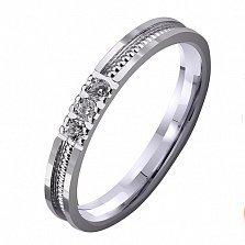 Золотое обручальное кольцо Тонкости любви с бриллиантами