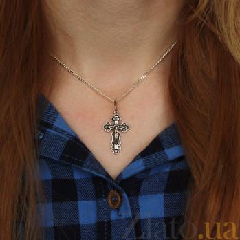 Серебряный крест Крещение Спасителя AUR--74008*