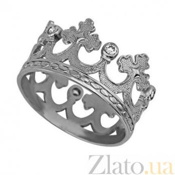Обручальное кольцо из белого золота Царица грез VLT--т1111-0