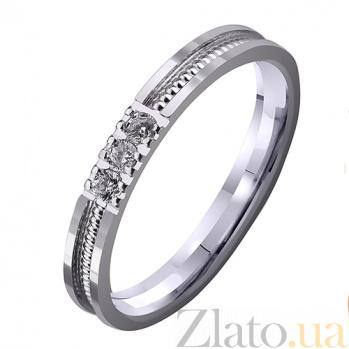 Золотое обручальное кольцо Тонкости любви с бриллиантами TRF--4221160н