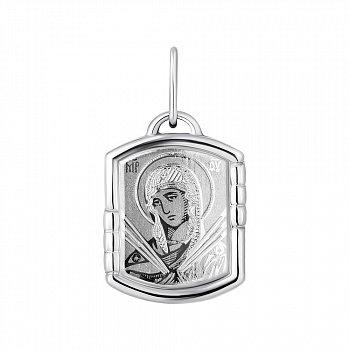 Серебряная ладанка икона Божией Матери Семистрельная 000148426