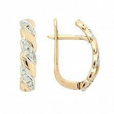 Золотые серьги с бриллиантами Тереса