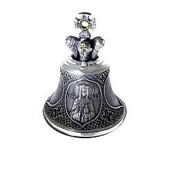 Бронзовый колокольчик Св. Ольга с желтыми фианитами 000004373